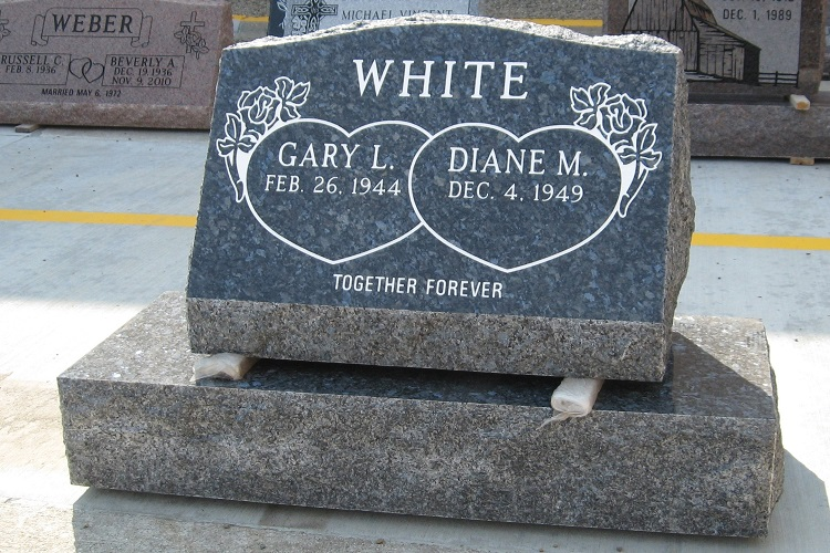 double-granite-slanted-headstone